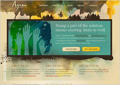 30个以自然为灵感的页面设计