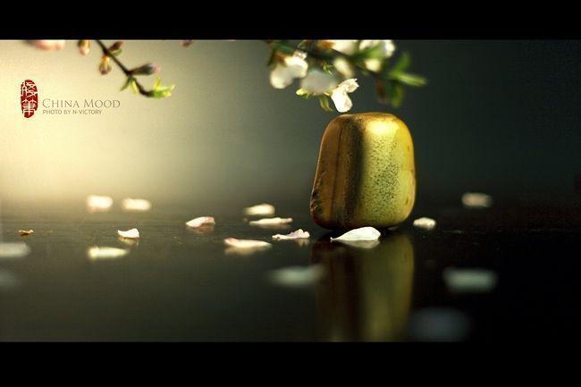 《青花憶》桃花飘落处