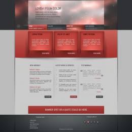 20个高品质的免费PSD网页模板