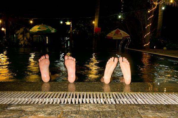游泳池,美奈,越南。