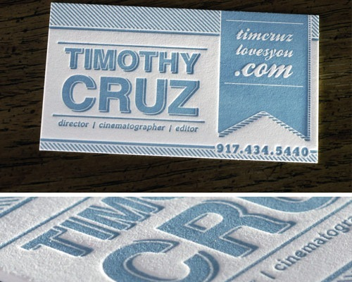 Timothy Cruz Business Card Design