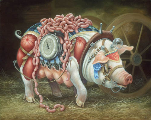 Heidi Taillefer 超现实主义插画欣赏