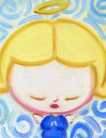 油画童趣卡通