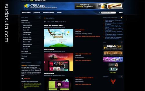 70个精心挑选的CSS画廊