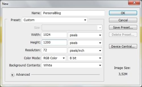Photoshop设计一个简单的个人博客模板
