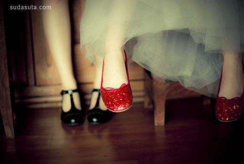 糖果 女生与小红鞋