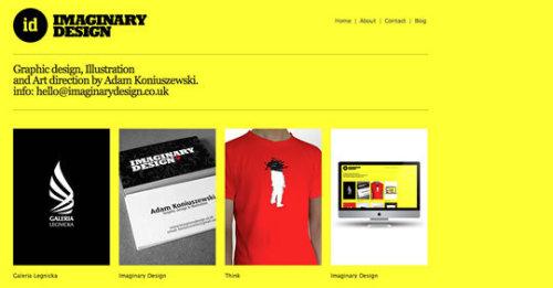 50个以黄色为主色调的网页设计欣赏