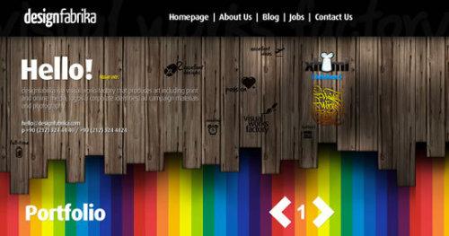 50个带有纹理效果的网页设计欣赏