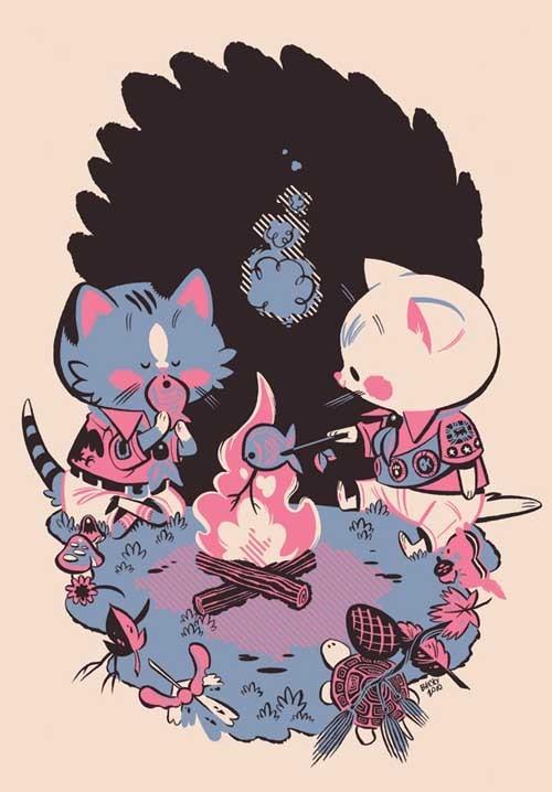 《Tiny Kitten Teeth》可爱漫画欣赏
