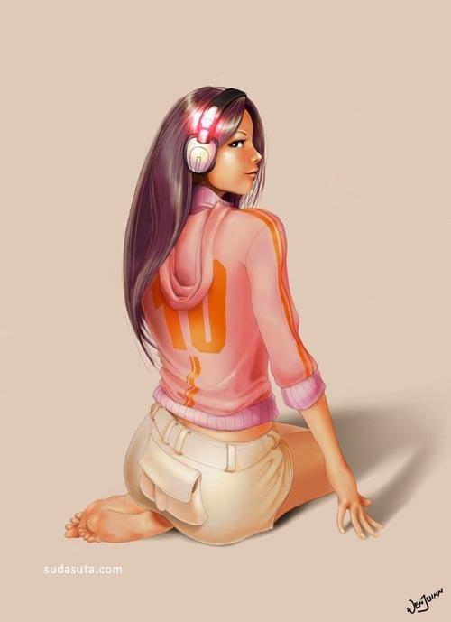 来自poibuts的美女CG插画欣赏