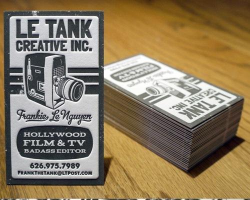 Le Tank Letterpress Business Cards