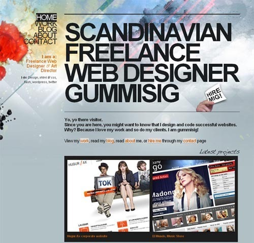 30个以云彩为设计元素的网页设计欣赏