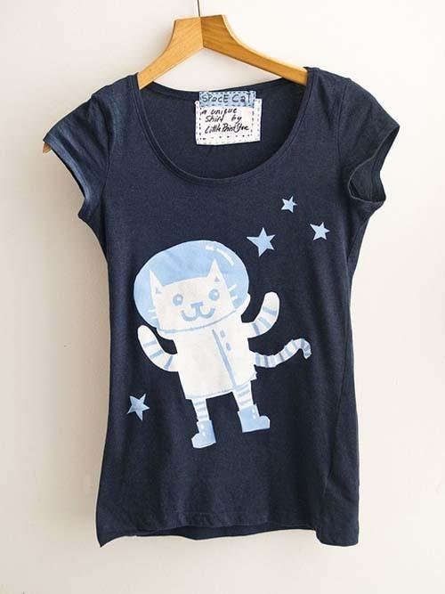 littlePrintStore 手工T恤欣赏
