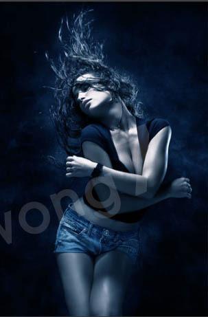 用Photoshop打造性感美女超炫海报