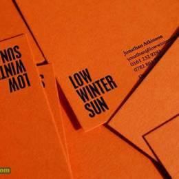 橙色创意名片设计