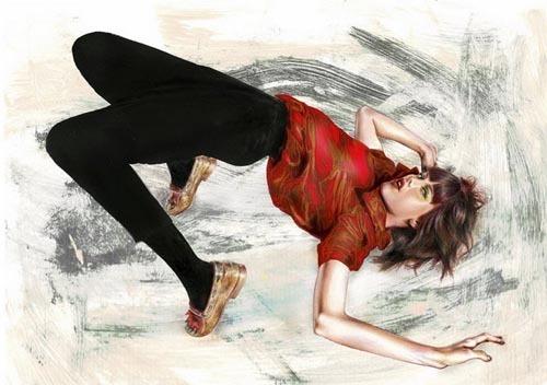 Minni Havas铅笔淡彩风格插画作品欣赏