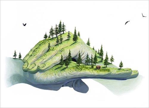 来自Josh Keyes的以环保为主题的插画作品欣赏