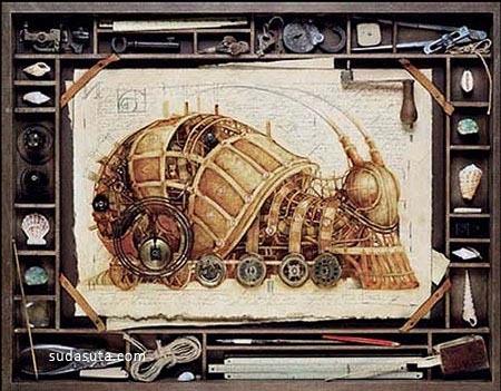 20个以旧蒸汽时代为主题的幻想插画欣赏