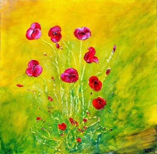 加拿大艺术家 teresa wegrzyn 关于花卉的插画