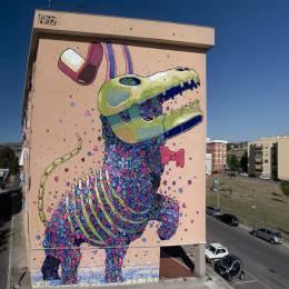 西班牙的街头艺人Aryz。街头涂鸦欣赏