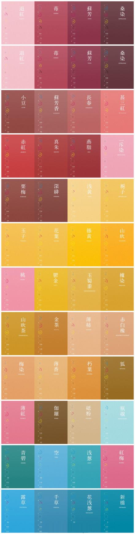 日本古代用色