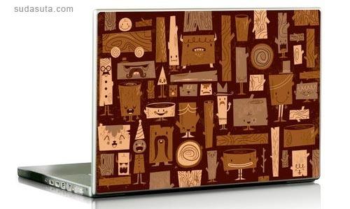 26张笔记本贴膜设计