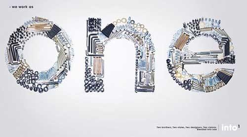 20个非常漂亮以字体为主要元素的的广告创意