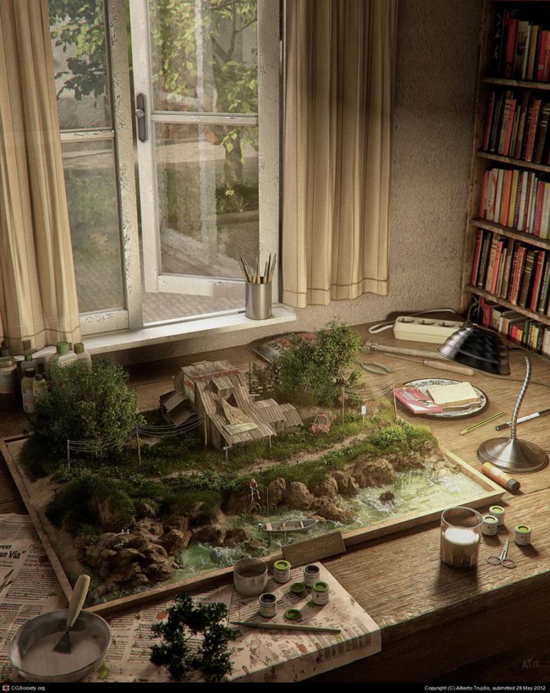 Alberto Trujillo 3D效果插画作品欣赏
