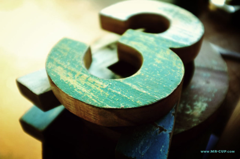 The Helvetica WOOD letters