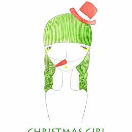 野原桃子 聖誕風格卡片設計