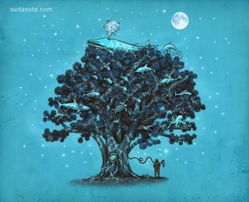 来自Terry Fan.的魔幻现实主义插画