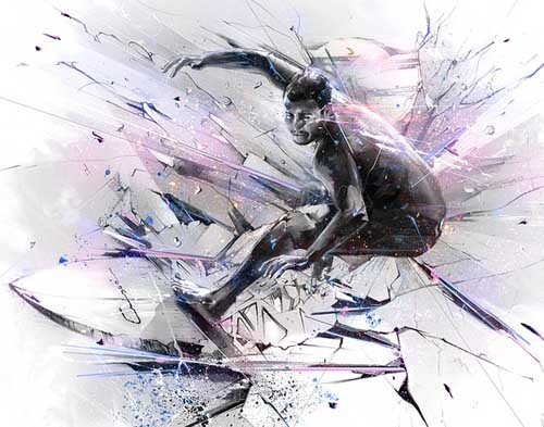 Alexis Marcou 运动的色彩与线条
