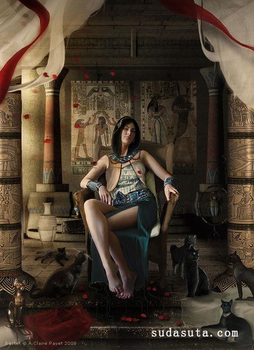 万圣节的黑猫 Anne-Claire Payet的照片后期混合