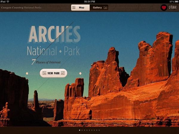 Ben Cline 国家公园iPad应用程序设计欣赏