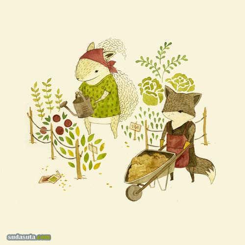 Teagan White 清新可爱儿童插画欣赏