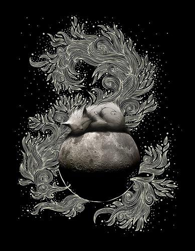 来自Nastya Razbegaeva的非常情绪化的照片合成作品