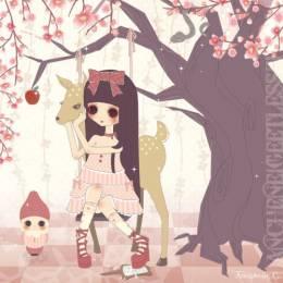 Annabelle C 粉红色娃娃