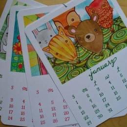 Michelle Cavigliano 日历卡片设计