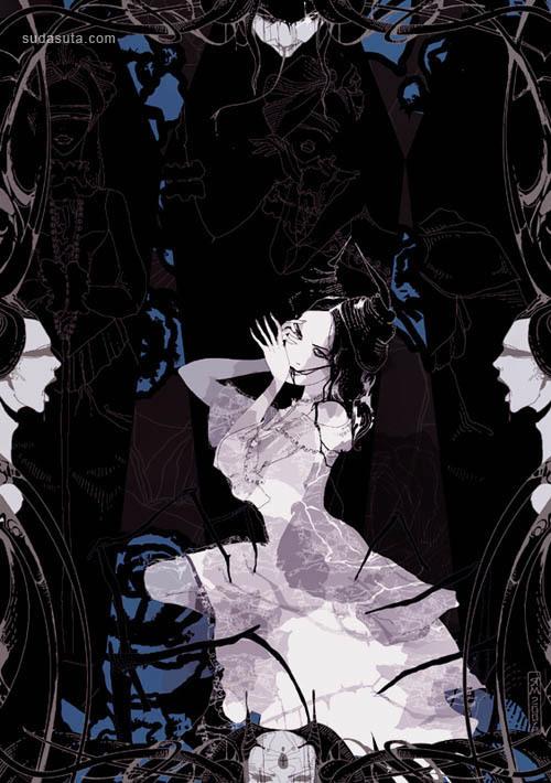 来自Yana的时尚插画作品欣赏