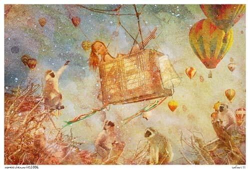 梦的旅程 以动物为主角的手绘插画欣赏