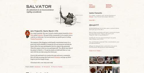 30个新鲜的创意个人blog设计