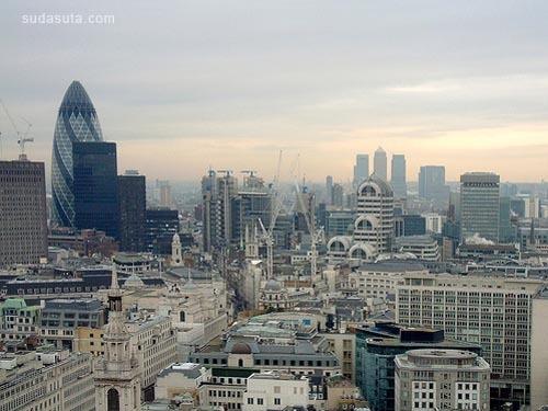 全景城市摄影