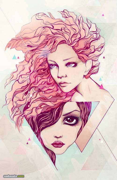 Soleil Ignacio 手绘时尚插画