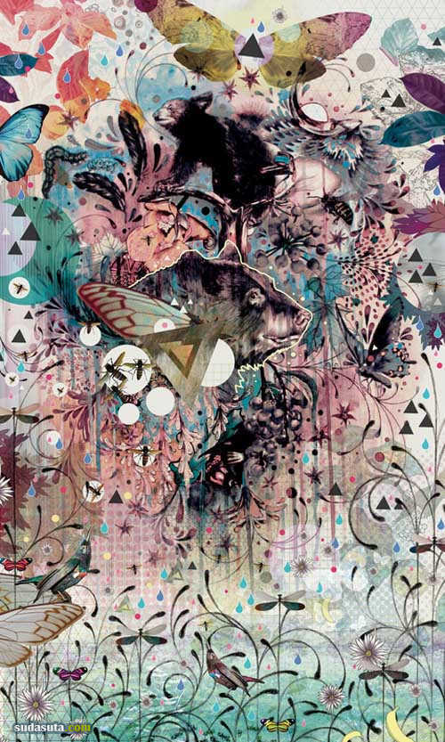Mat Miller 超现实主义的抽象插画作品