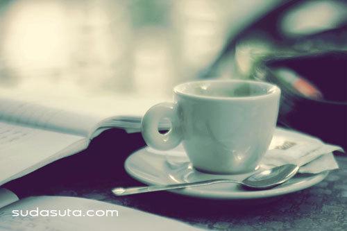 下午 咖啡的香