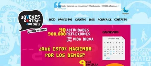 50个色彩鲜艳的网页设计欣赏