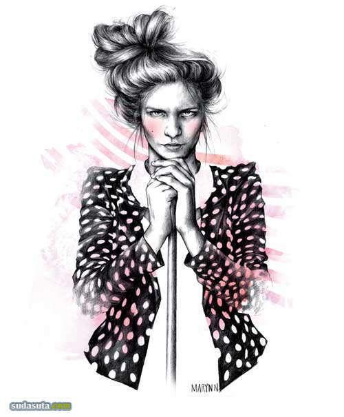 Marynn 手绘时尚插画欣赏