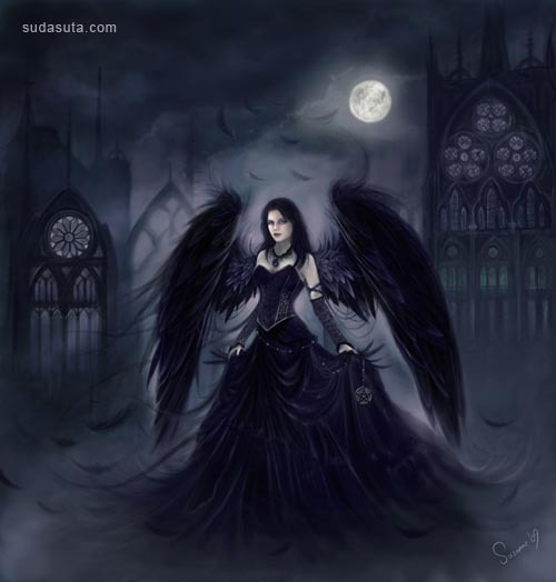 23张以天使为主题的插画欣赏