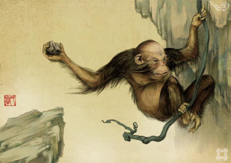 举父(ju fu) 崇吾山的畏兽,善于投掷,虎豹畏之。