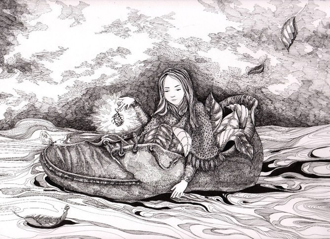 Natasha Kim 线条插画作品欣赏